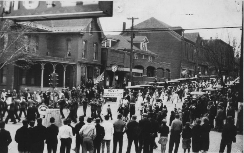 Throwback Thursday: A Parade of Clothing Workers in Curwensville