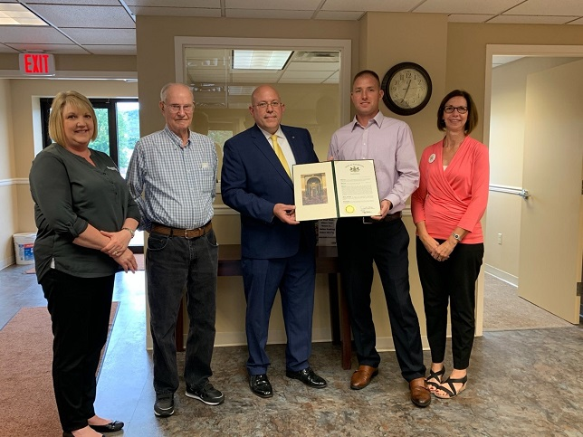 Lindholm Recognized by District Director and Priority First Federal Credit Union