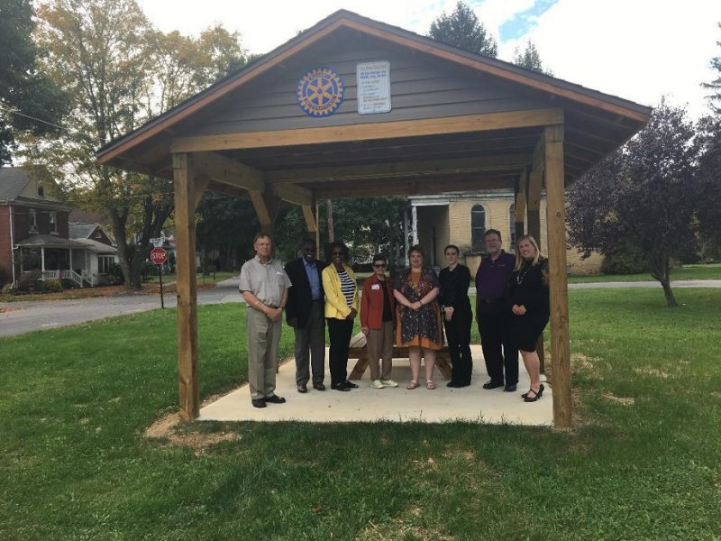 Clearfield Rotary Sponsors Rebecca Park Pavilion Project