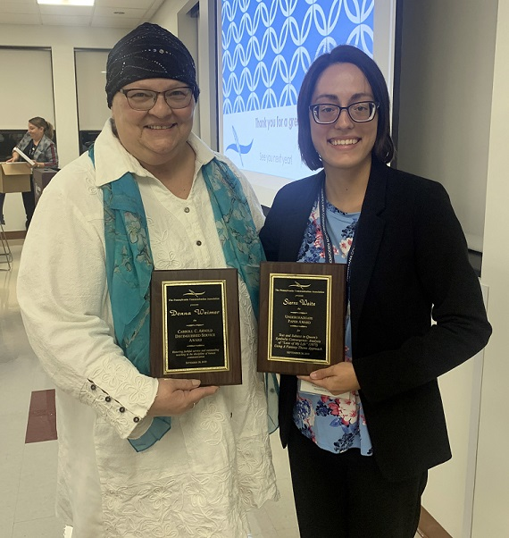 Juniata Professor and Student from Houtzdale Receive Awards at PA Communications Conference