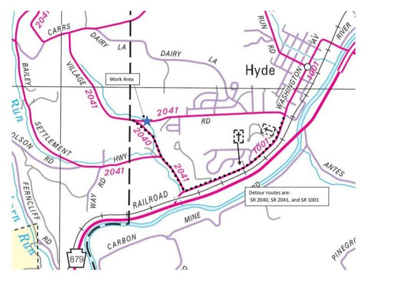 Pipe Work and Road Closure Scheduled in Clearfield County