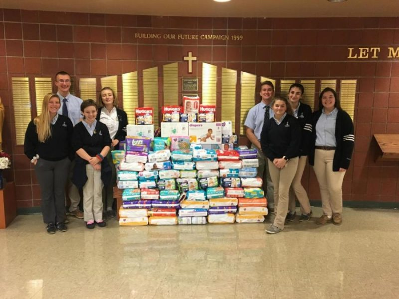 DuBois Central Catholic Holds Successful Diaper Drive for Catholic Charities
