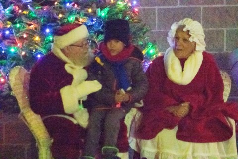Santa Lists Holiday Schedule in Downtown DuBois
