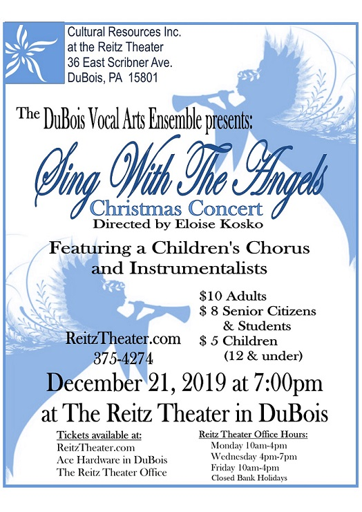 DuBois Vocal Arts Ensemble to Perform Annual Christmas Concert