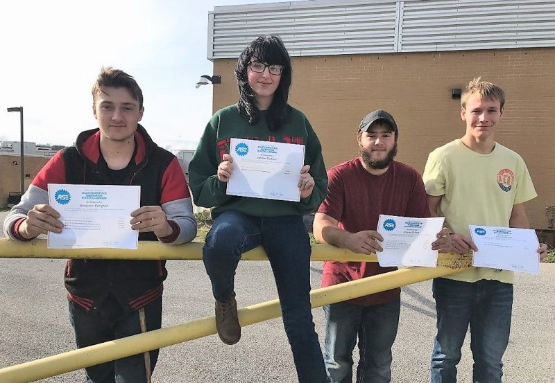 CCCTC Students Earn Automotive Service Excellence Certification