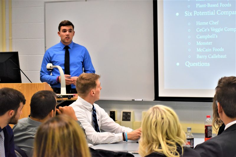 Students Pitch Business Ideas to Economic Developer