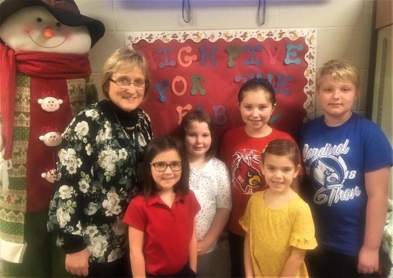 DuBois Central Catholic Elementary Names November Fab Five