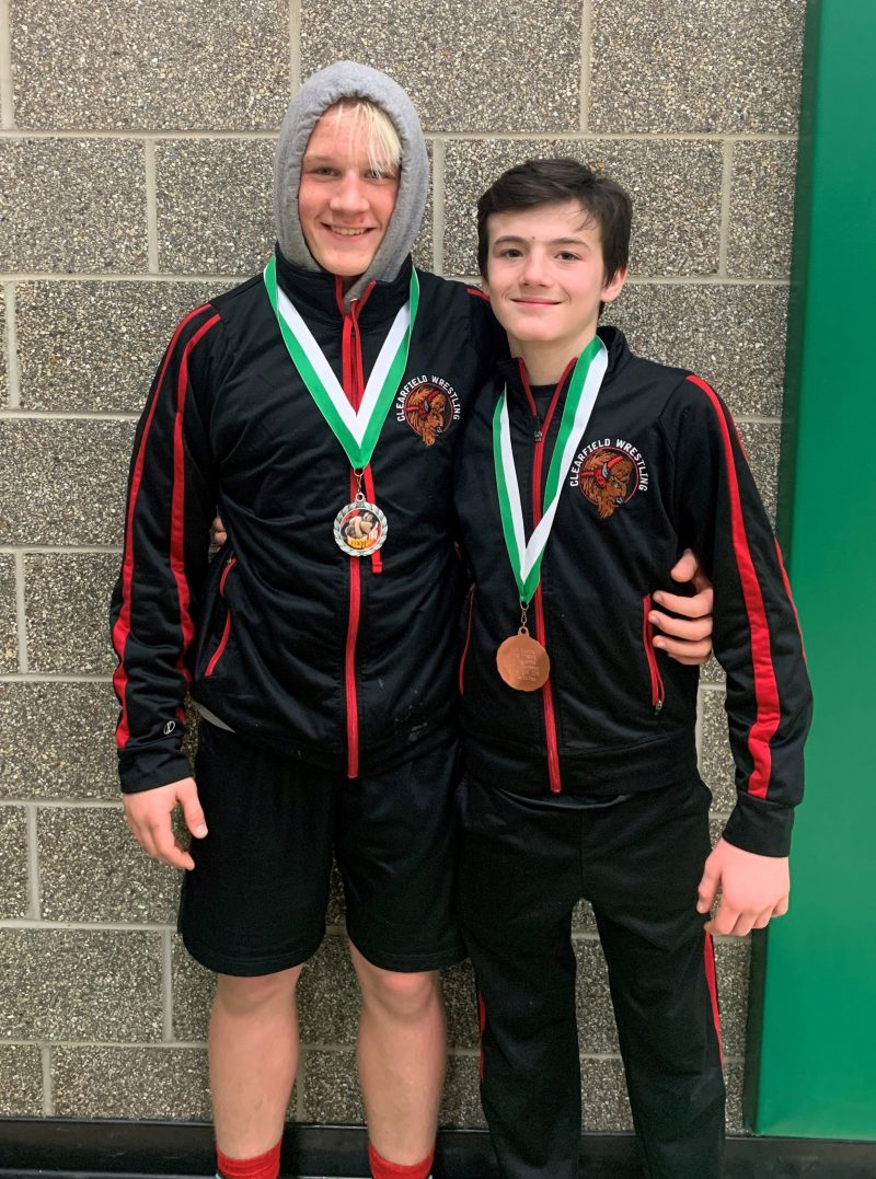 Clearfield Junior High wrestlers Place at South Fayette Tourney
