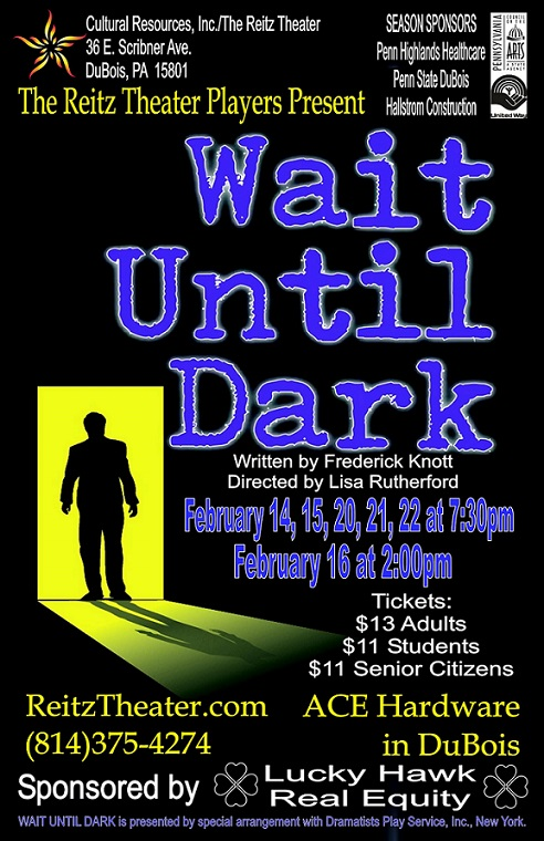 Reitz Theater to Present Wait Until Dark