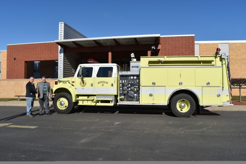 Lawrence Twp. Donates Pumper Tanker to CCCTC