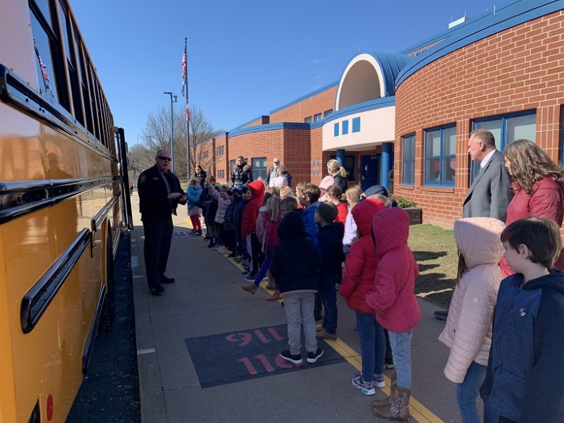 """PennDOT, PSP, Local Law Enforcement Celebrate """"Love the Bus"""" at Local Elementary Schools"""