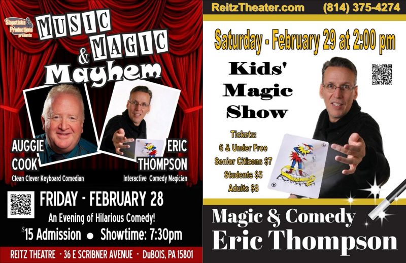 Reitz Theater to Present Music, Magic, & Mayhem