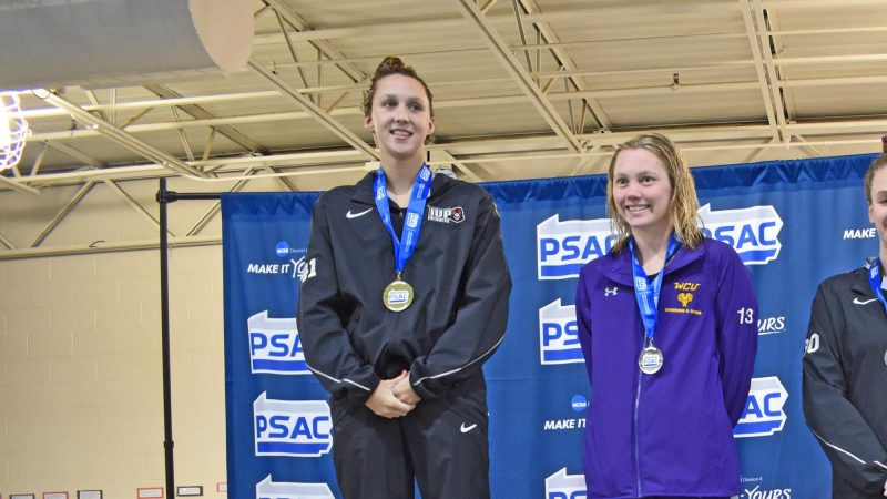 Campus Corner: Record-Breaking Pool Performances Earn Paige Mikesell, Isaac Swanson Conference Meet Accolades