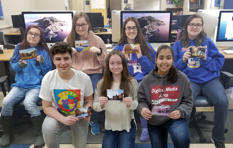CCCTC Students Design Clearfield County Postcards
