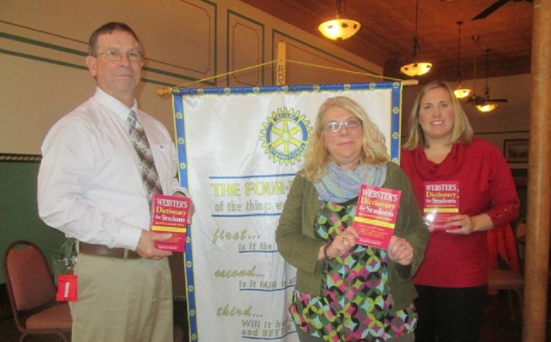 Clearfield Rotarians Donating Dictionaries to Local Students