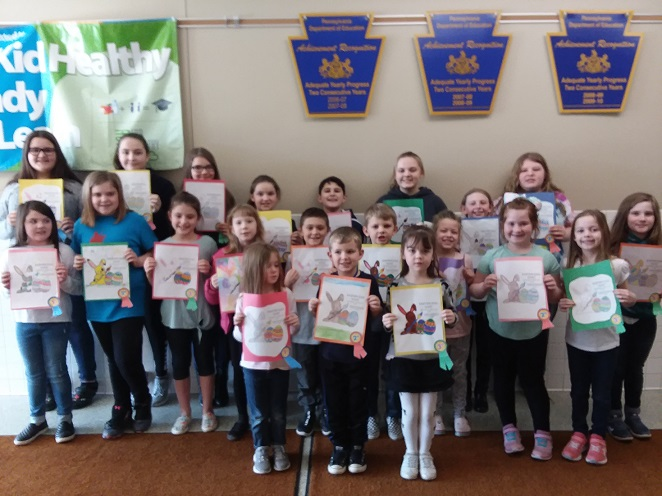 Grampian Lions Club Announces Winners of Easter Coloring Contest